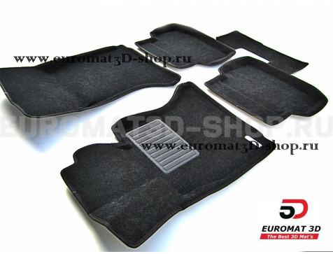Текстильные 3D коврики Euromat3D Business в салон для Bmw 5 (F10) (2010-2013) № EMC3D-001205