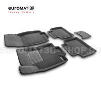 Текстильные 3D коврики Euromat3D Business в салон для Nissan X-Trail (T32) (2015-) № EMC3D-003724G Серые