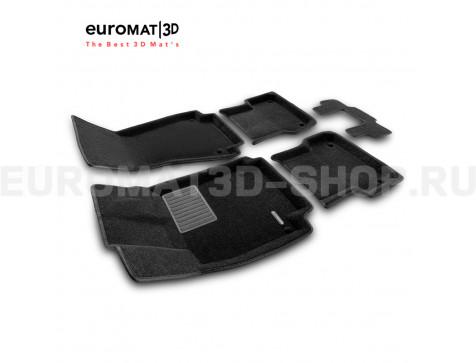 Текстильные 3D коврики Euromat3D Premium в салон для Audi A6 (2011-2018) № EMPR3D-001107