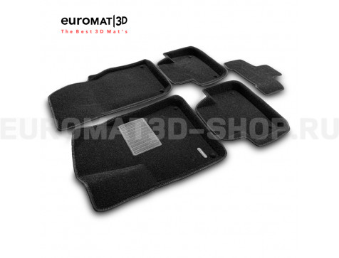 Текстильные 3D коврики Euromat3D Premium в салон для Audi Q7 (2015-) № EMPR3D-001108
